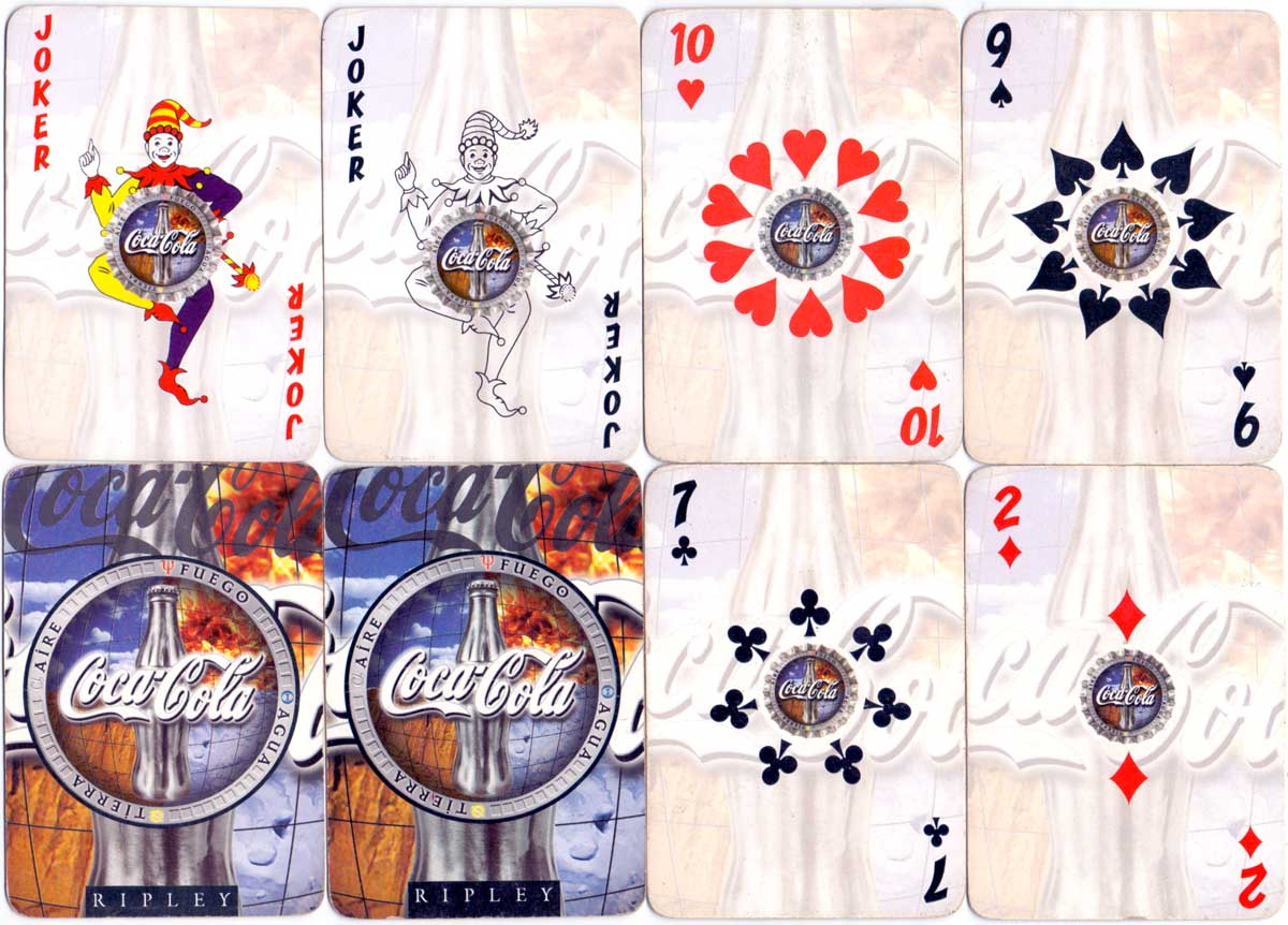 Coca-Cola themed deck produced for Ripley Depertment Store, Peru, anonymous manufacturer, c.2000