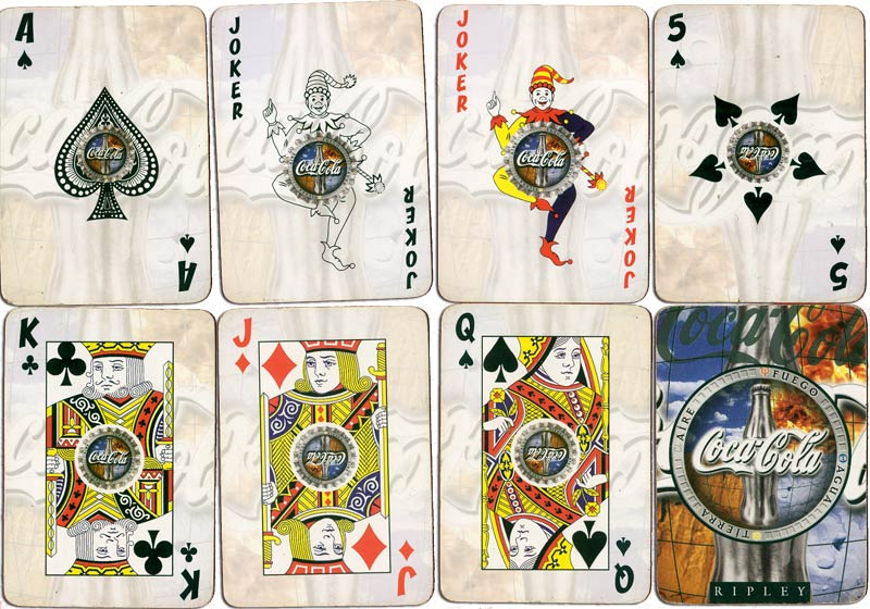 Coca~Cola advertising playing cards printed for Ripley department store, Peru