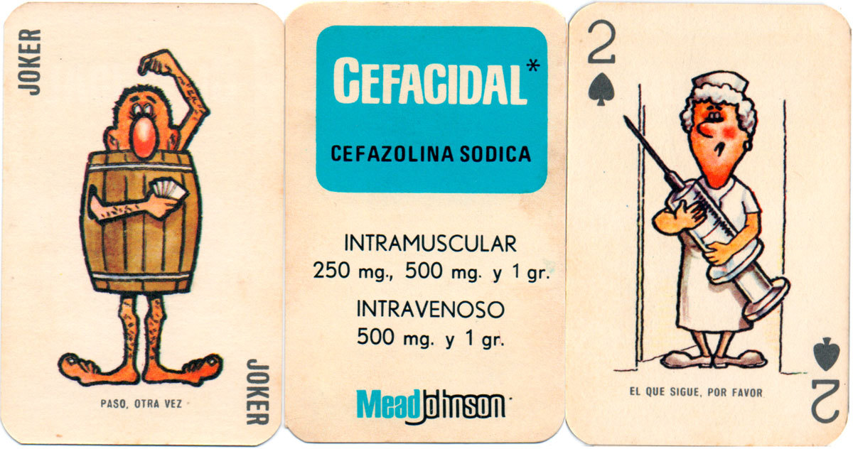 Cefacidal / Mead Johnson by Offset Cecil S.A., Peru, c.1975