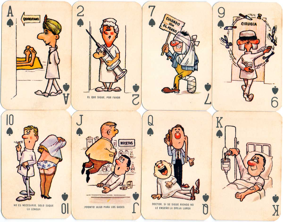 """""""Cefacidal"""" pharmaceutical advertising playing cards, Peru c.1975"""