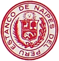 The logo of the Estanco de Naipes usually appears on the reverse of the cards