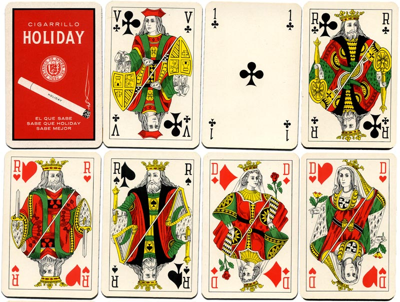 Playing cards manufactured by Van Genechten for the Estanco de Naipes del Peru, c.1965
