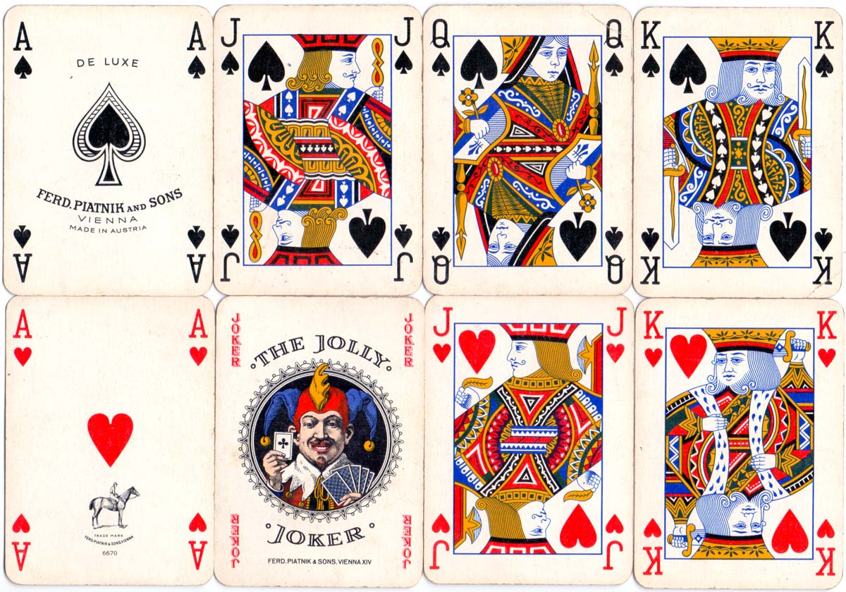 "Playing Cards manufactured by Ferd. Piatnik & Sons, Vienna for the ""Estanco de Naipes del Perú"", c.1960"
