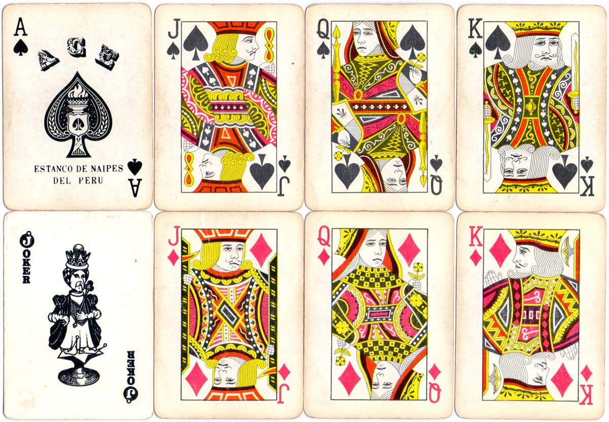 "TOYO playing cards manufactured in China for the ""Estanco de Naipes del Perú"", 1950s"