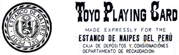 "TOYO playing-cards manufactured in China for the ""Estanco de Naipes del Perú"", 1950s"