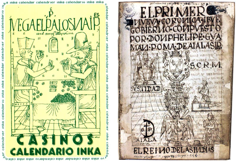 """Calendario Inka"" playing cards published by Power Casinos, Lima, Peru, c.2004"