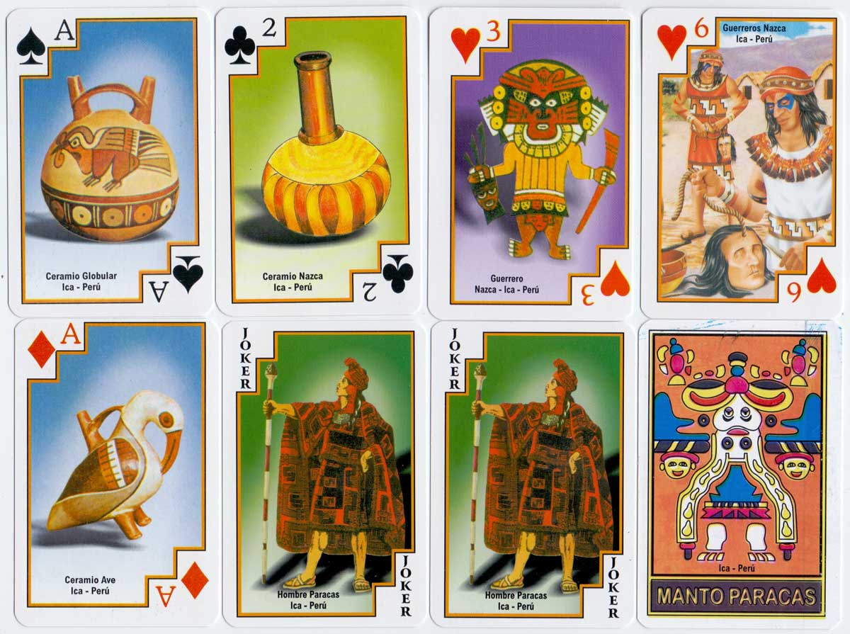 """Líneas de Nazca"" souvenir playing cards, Peru, c.2008"