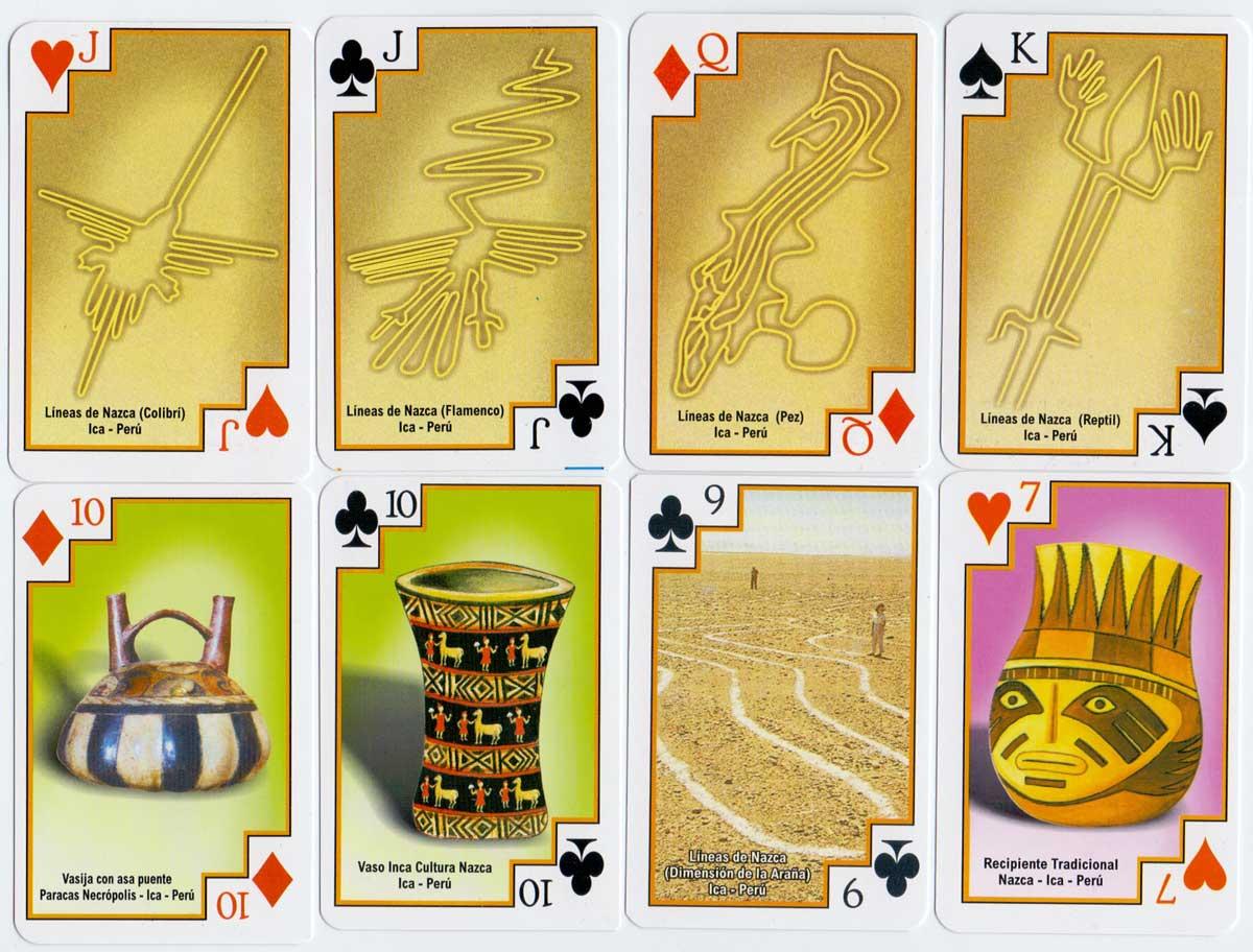 """Líneas de Nazca"" souvenir playing cards, Peru, c.2008"