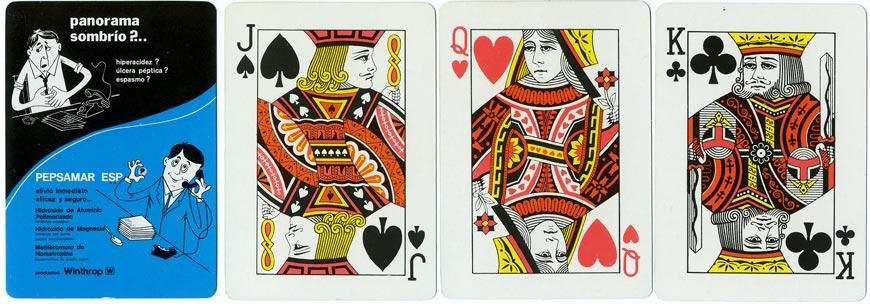 Pepsamar advertising playing-cards
