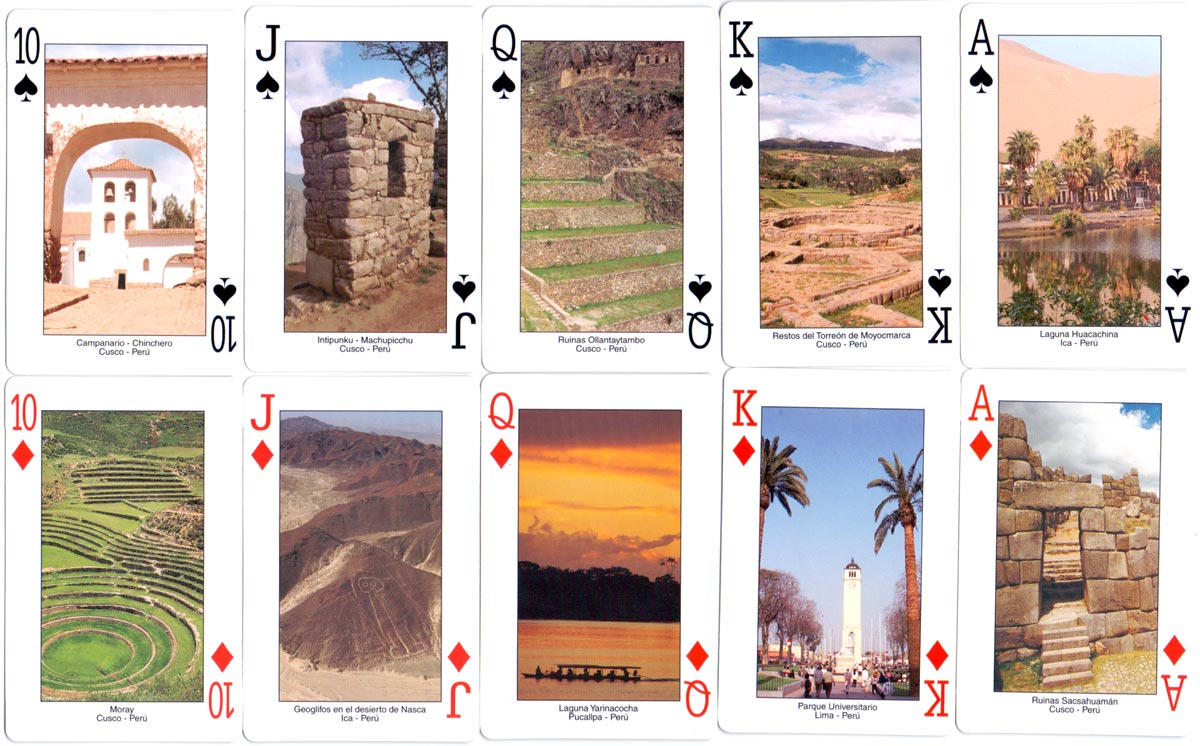Assorted scenes from Peruvian landscape, architecture and culture published by Jan Mer S.A.C., c.2000