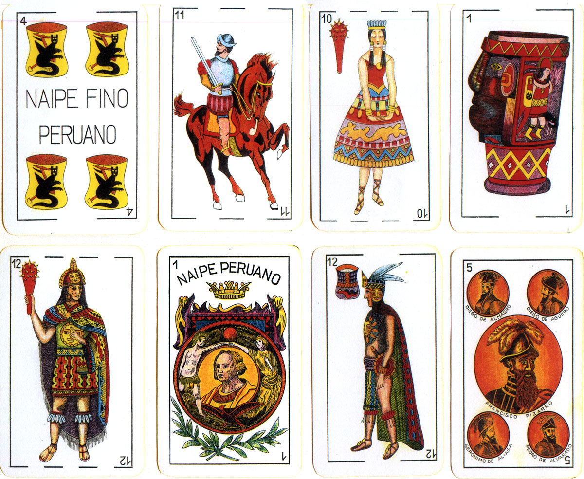 Peruvian costumes playing cards