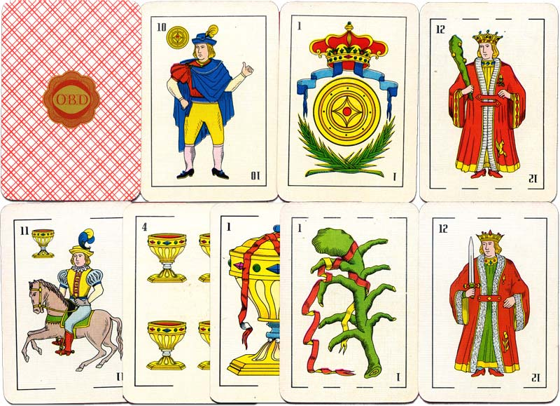 OBD Spanish-suited playing cards, c.1976