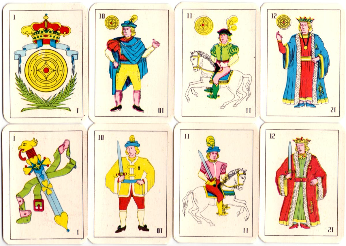 Pavias playing cards made in Peru, c.1990
