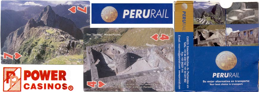 Peru Rail souvenir playing cards