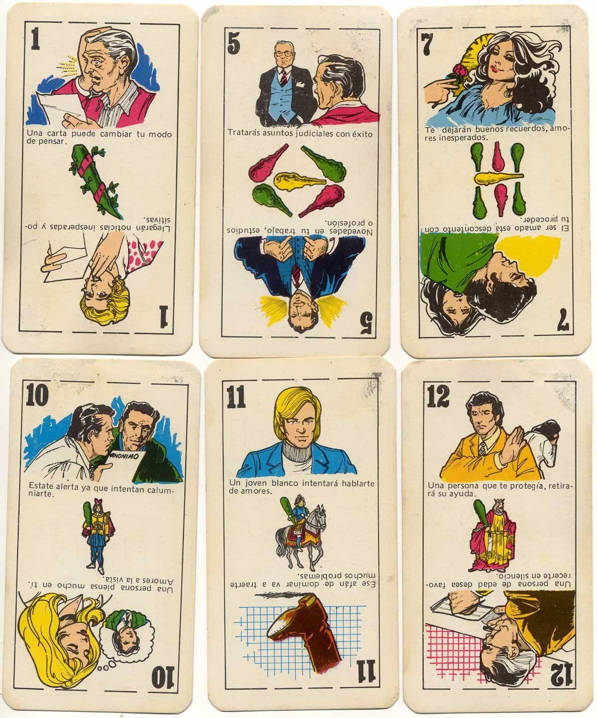 Naipes TU DESTINO Cartomancy Cards by Zandrox Producciones, Miraflores, Peru, c.1975