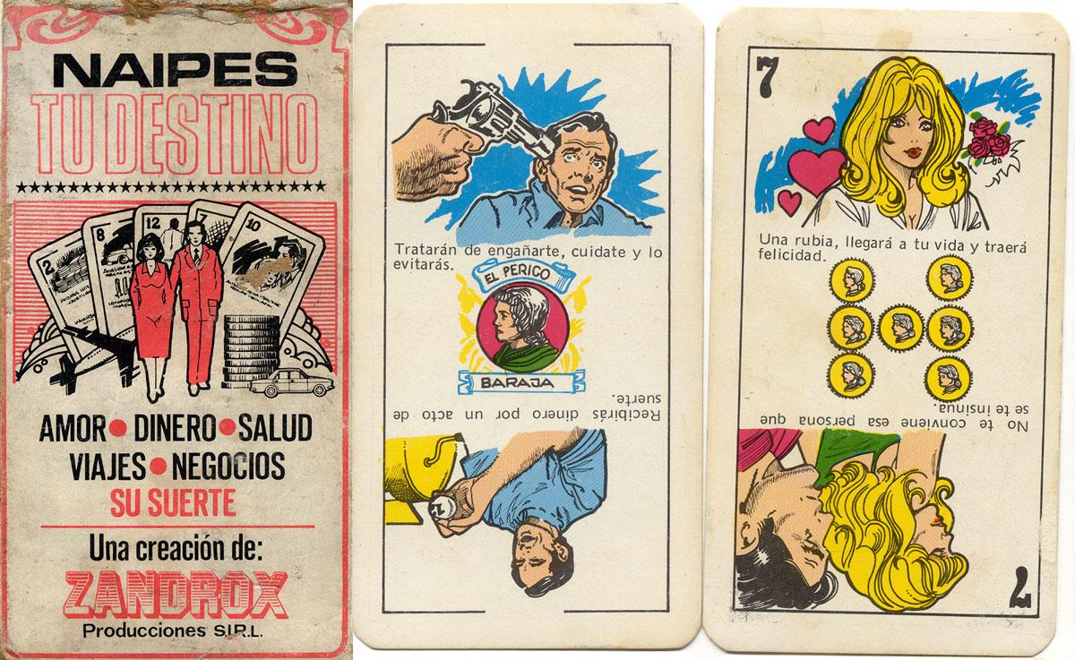 TU DESTINO Cartomancy Cards by Zandrox Producciones, Miraflores, Peru, c.1975