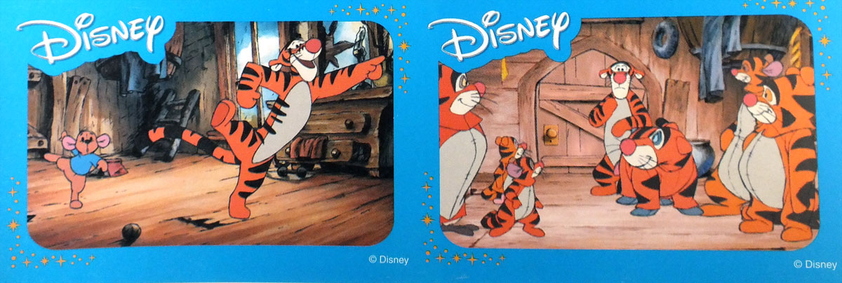 Disney collectable cards showing scenes from Disney animated movies. Printed in Poland by KZWP-Trefl, 2003