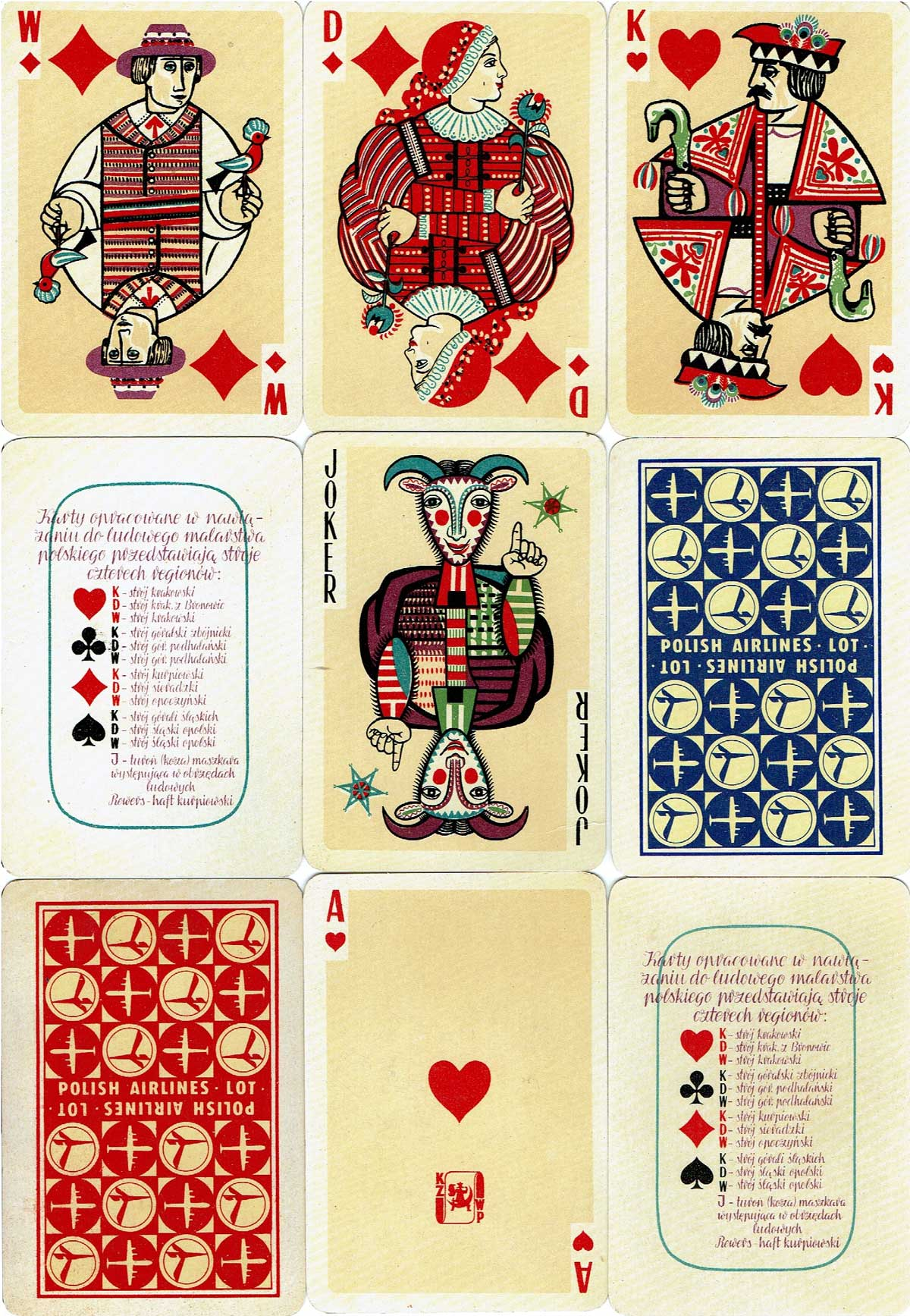 Folk Cards designed by Krystyna Gruchalska - Bunsch, 1962