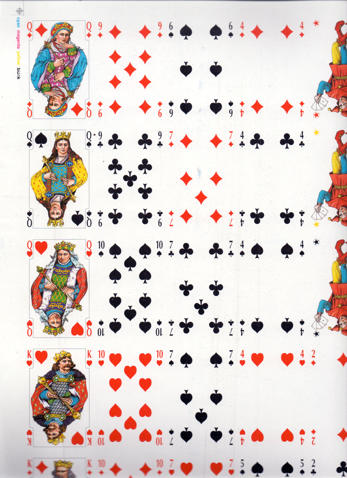 'Królewskie' playing cards with Slavic style courts, printed by KZWP-Trefl, 2002