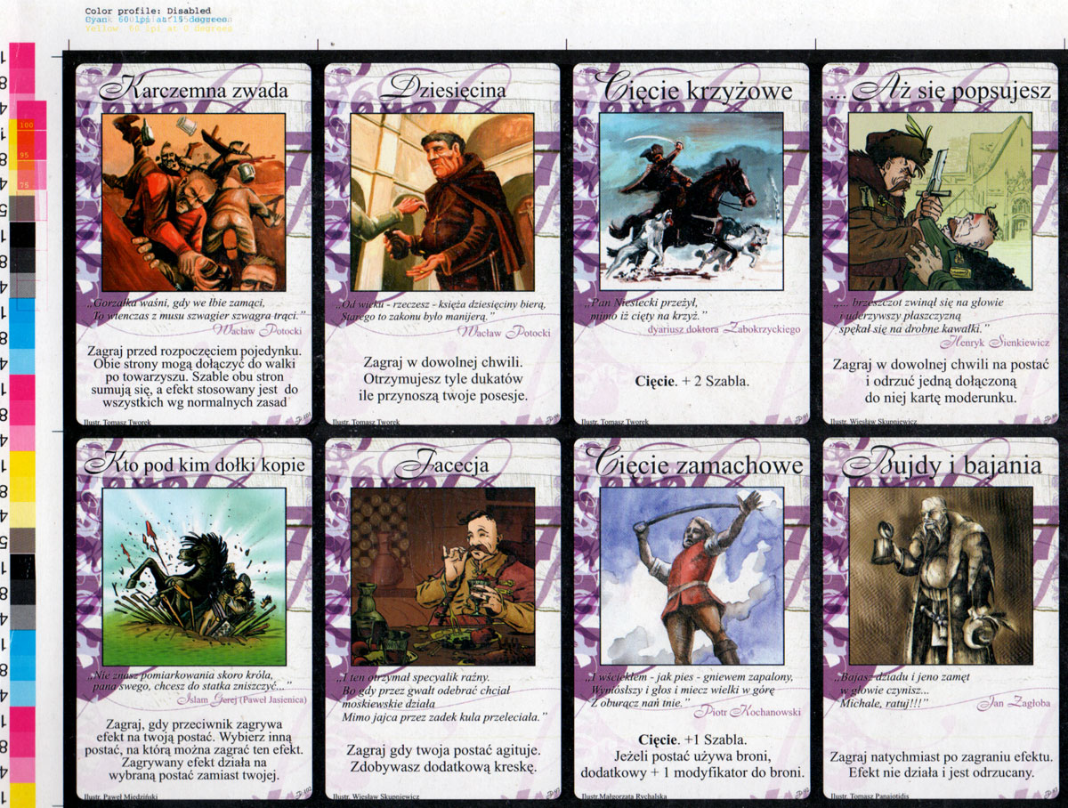 part of an uncut sheet of Veto game cards printed by KZWP-Trefl and published by Krakowska Grupa Kreatywna, 2004