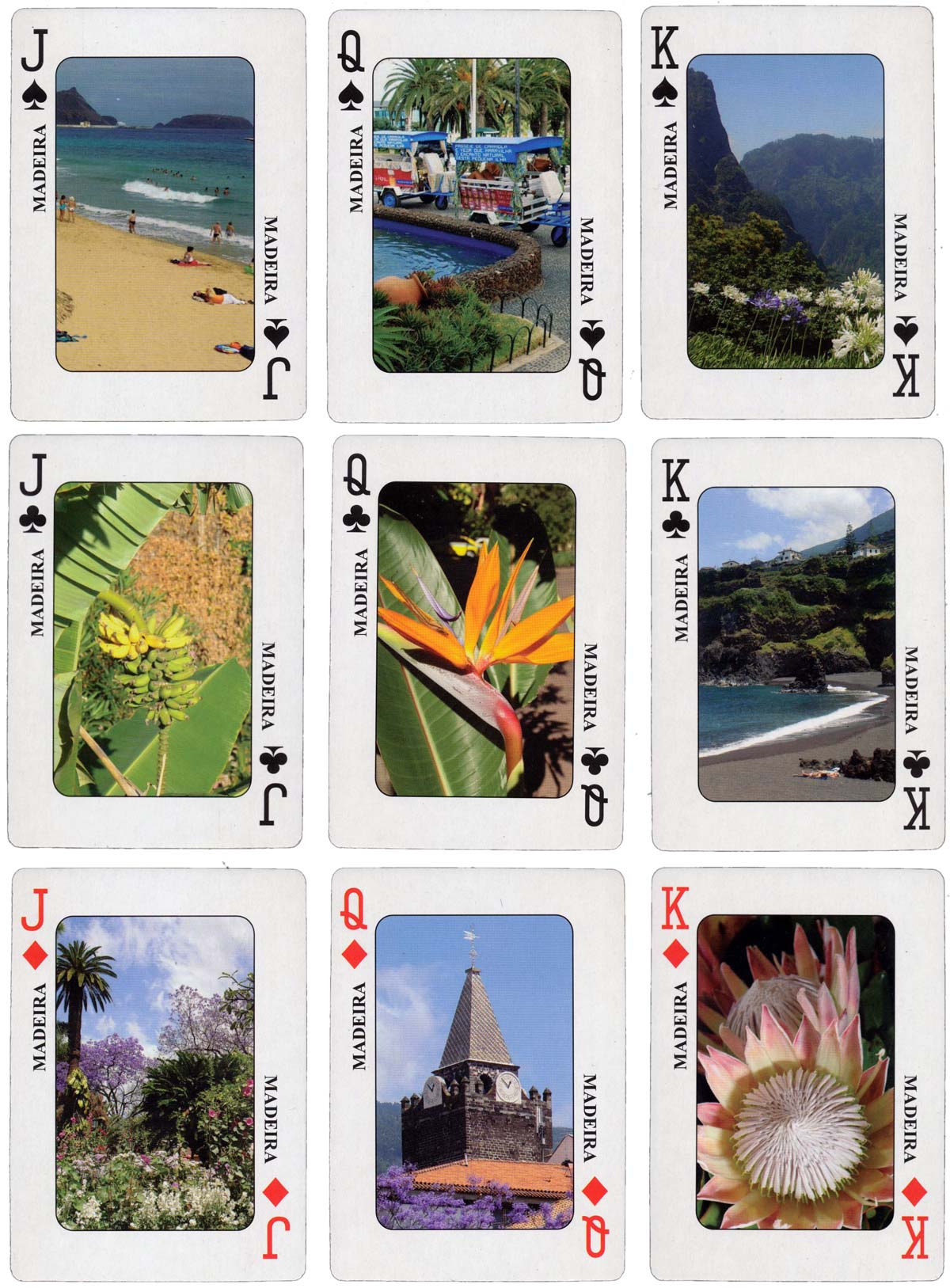 """Ilha da Madeira"" Souvenir playing cards"