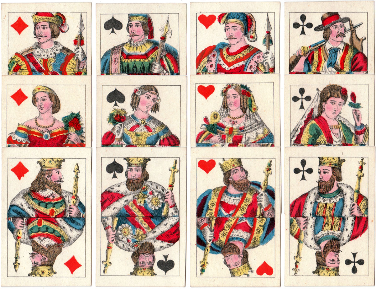 German-style deck manufactured by Maillard of Portugal, c.1885