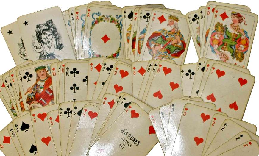German-style playing cards made in Portugal by J. J. Nunes, c.1930