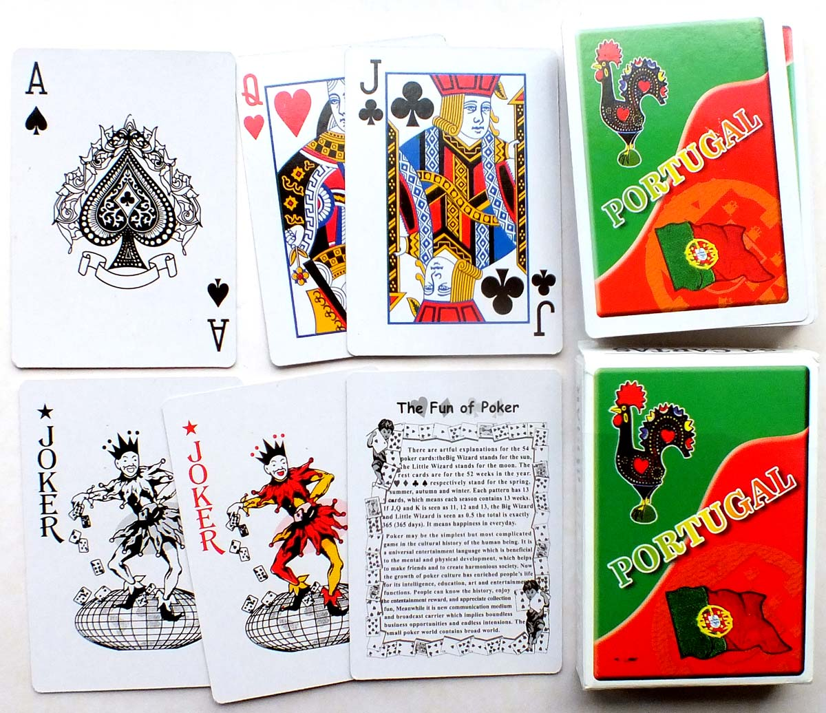 Souvenir of Portugal playing cards from a tourist shop, 2019