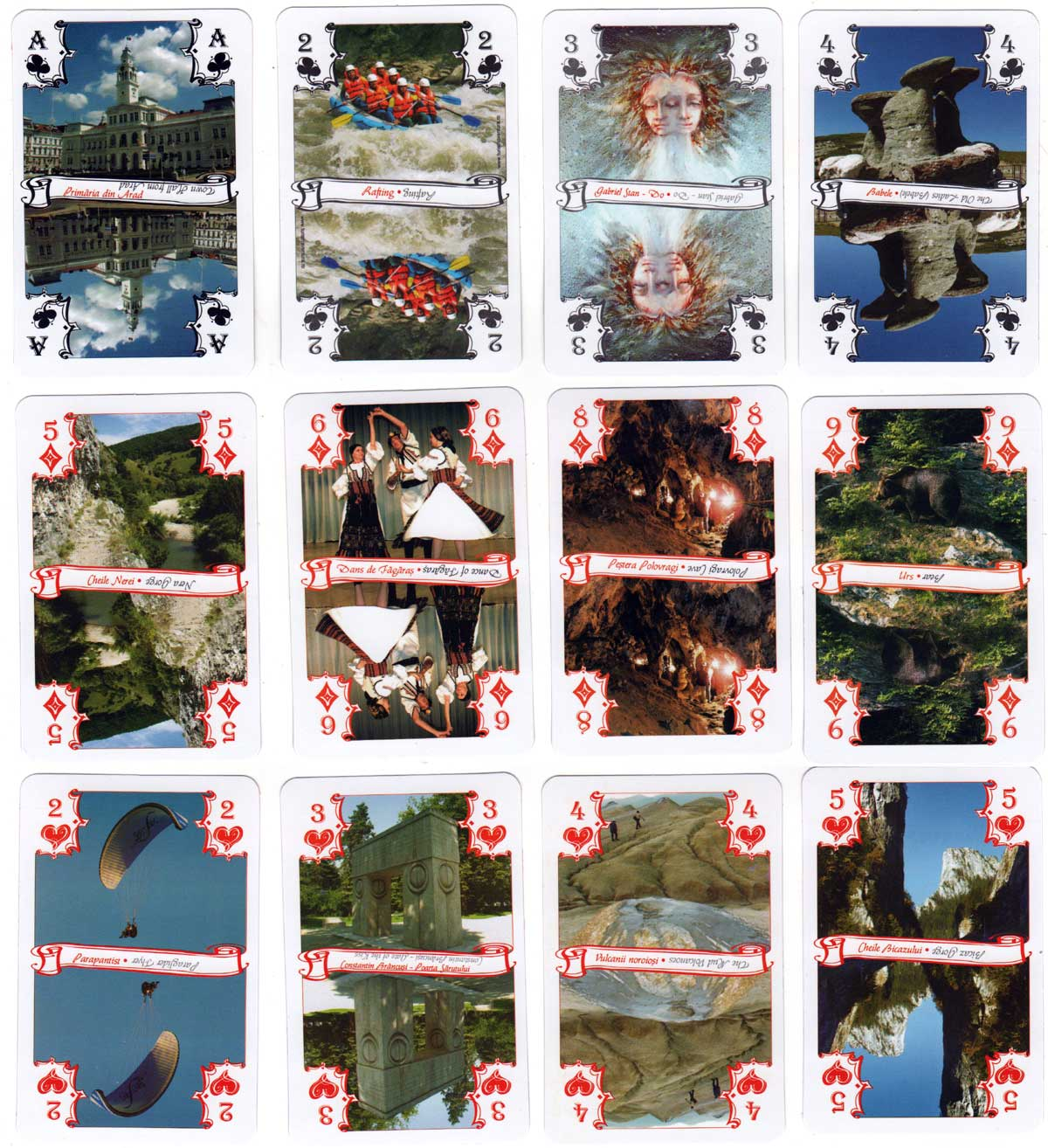 Discover Romania souvenir playing cards published by Editura Foton, 2010