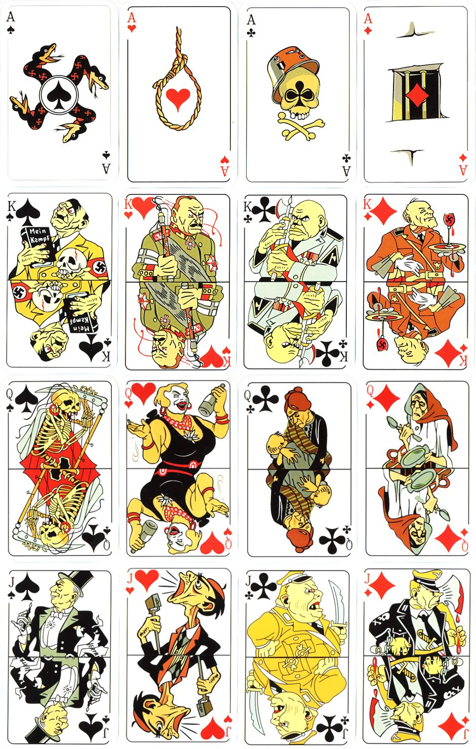Russian anti-fascist playing cards first published in 1943