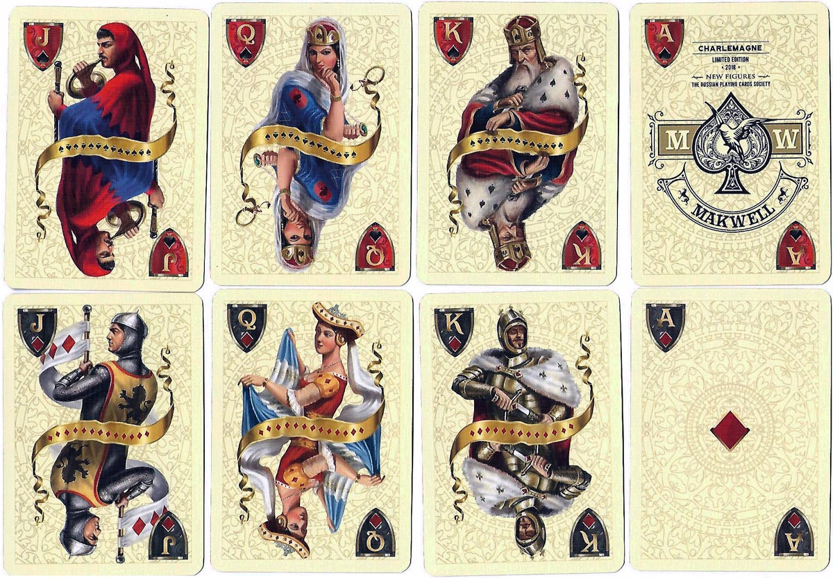 """New Figures"" playing cards designed by A I Charlemagne, published by the Russian Playing Card Society"