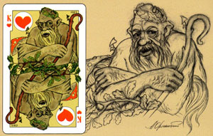 East Slavonic Mythology playing cards