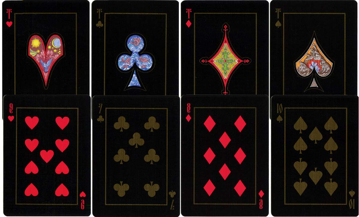 The Four Worlds playing cards by artist Aleksey Zhiryakov, 2018