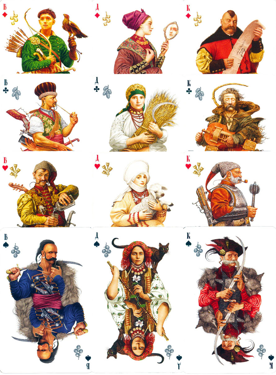"""Korchma Taras Bulba"" playing cards designed by Vladislav Erko"