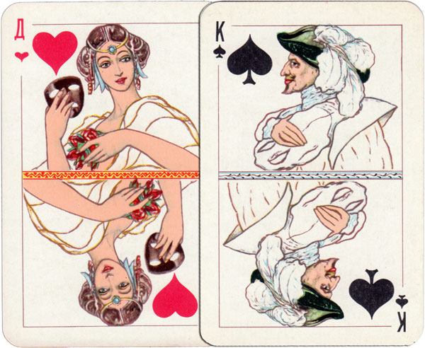 """New Style"" playing cards from Russia based on Literature & Theatre"