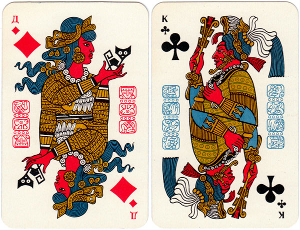 Maya playing cards