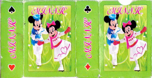Minnie patience cards, Singapore