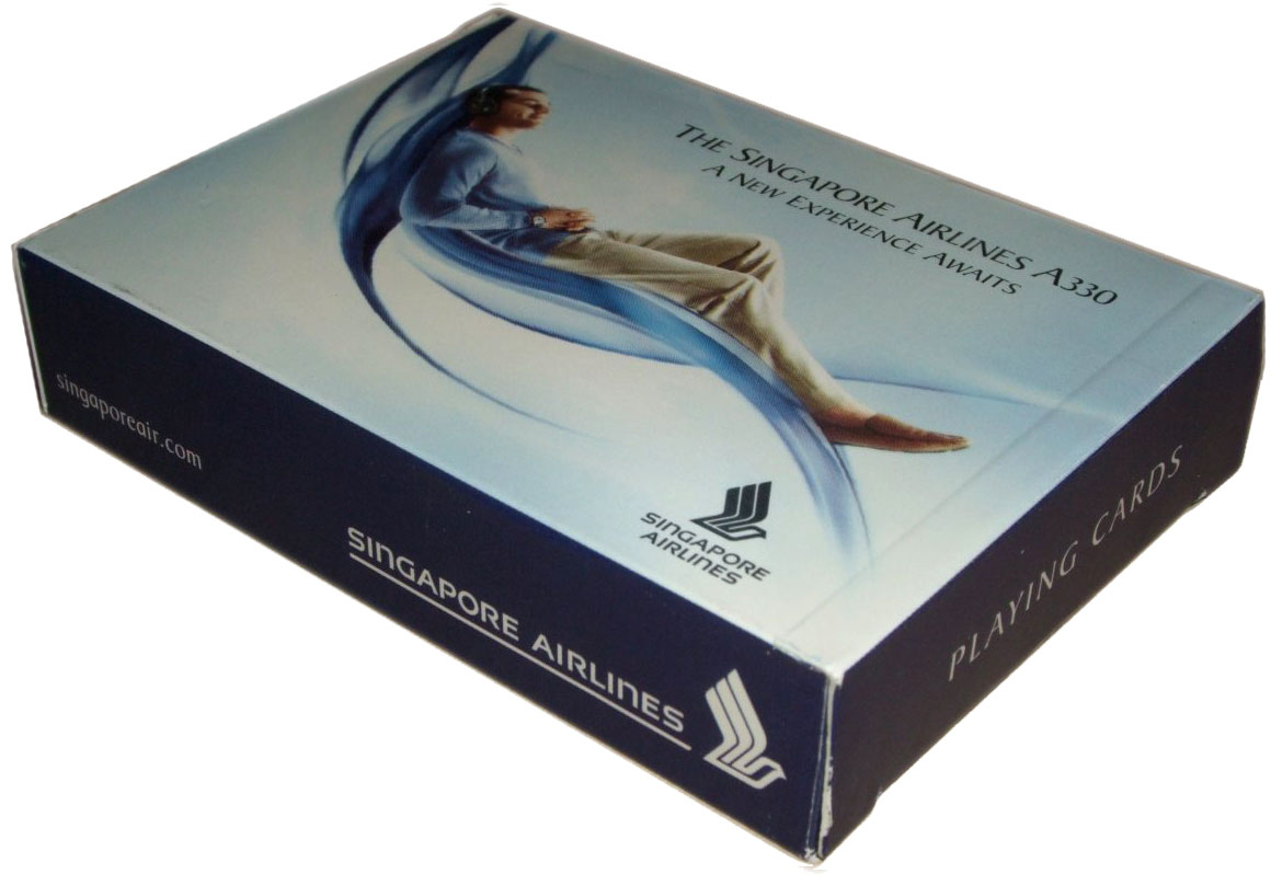 Singapore Airlines A330 souvenir playing cards