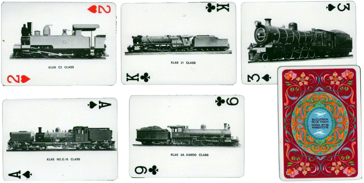 "Early edition of ""The Blue Train"" playing cards from the luxury train service in South Africa, c.1978"