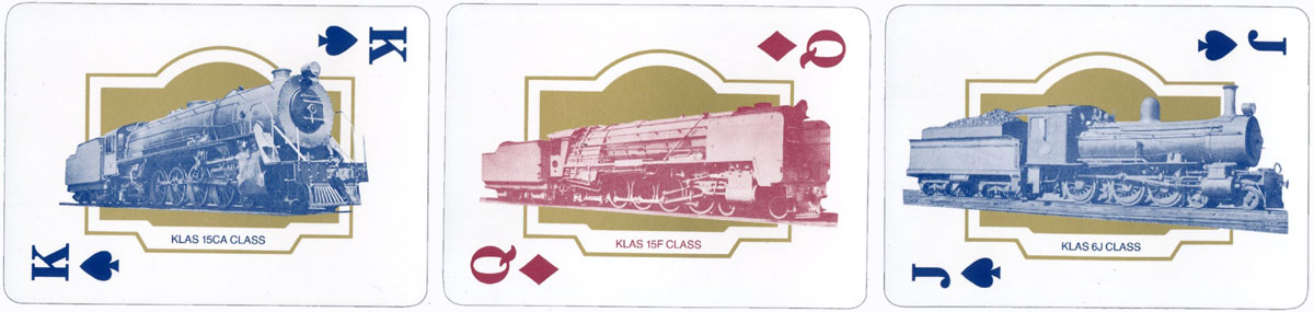 """The Blue Train"" playing cards from the luxury train service in South Africa"