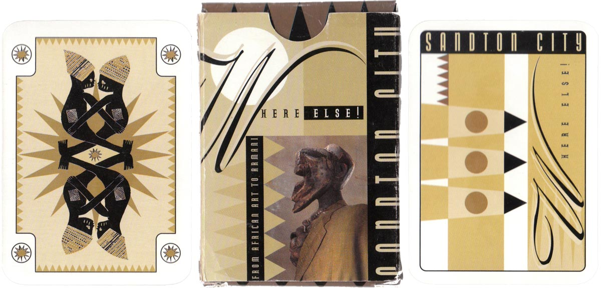South African cards designed by The Red Iron Rooster for Sandton City