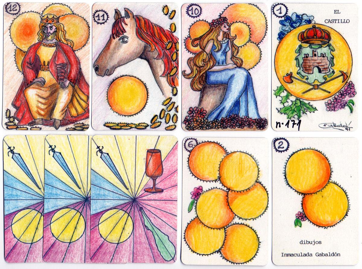 Designs by Inmaculada Gabaldón published by Naipes de la Cigüeña, 1991