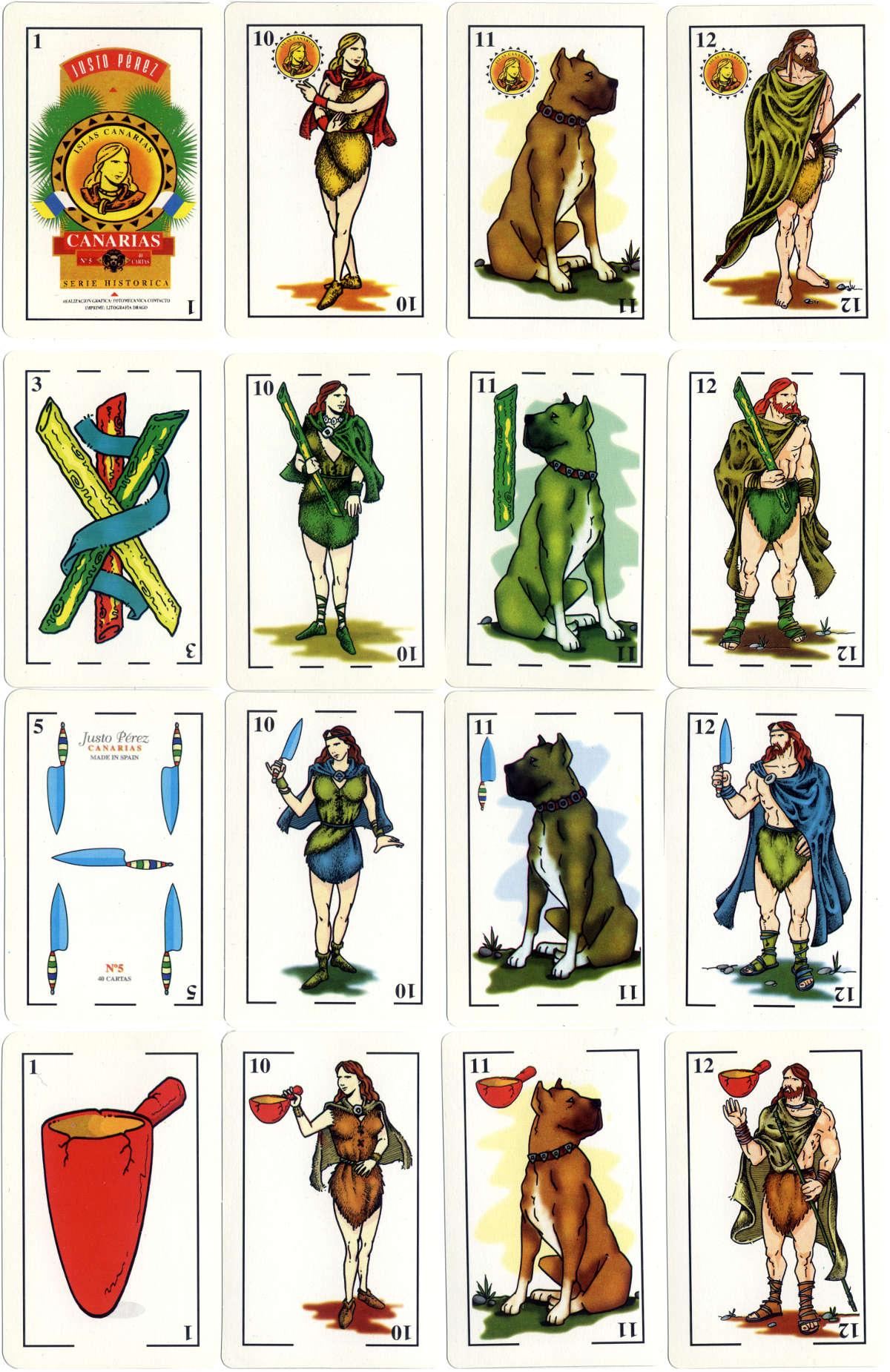 'La Auténtica Baraja Canaria' Nº5 Serie Histórica, published by Justo Pérez, 1995