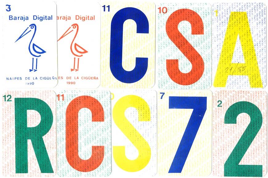 Baraja Digital by Naipes La Cigüeña, 1990