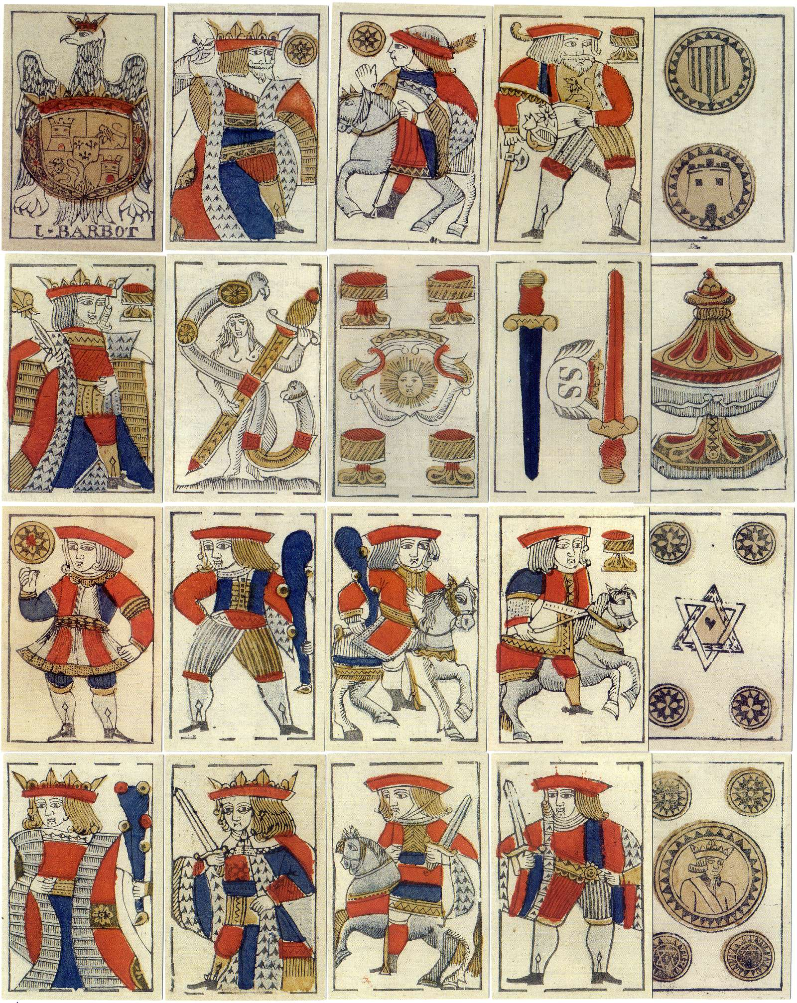facsimile edition of cards made by Joan Barbot, San Sebastian, c.1765