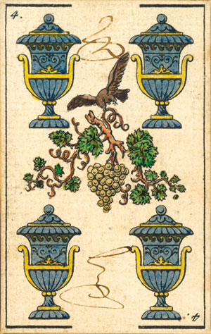 four of cups with tax accountant and administrator's signatures