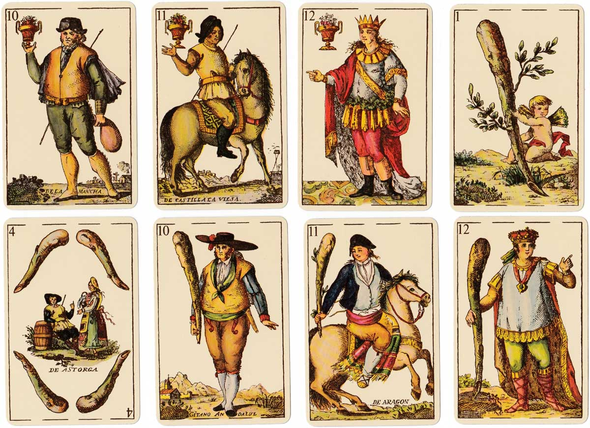 Baraja 'Goyesca' facsimile of original deck published by Clemente de Roxas, 1814