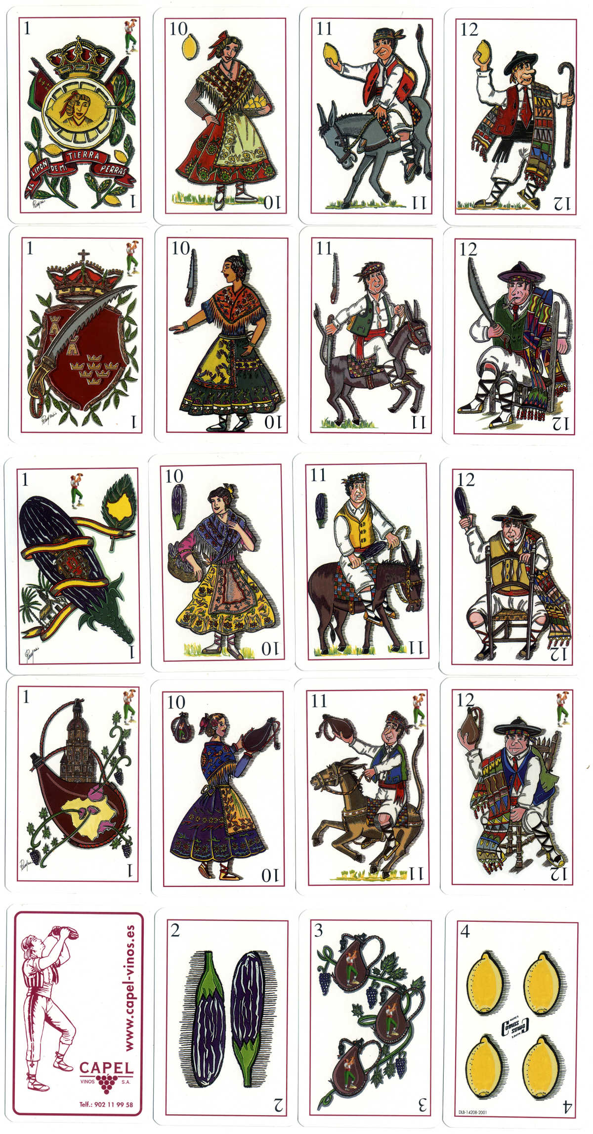 advertising playing cards for Capel Vinos S.A. (vineyards), Spain, 2001