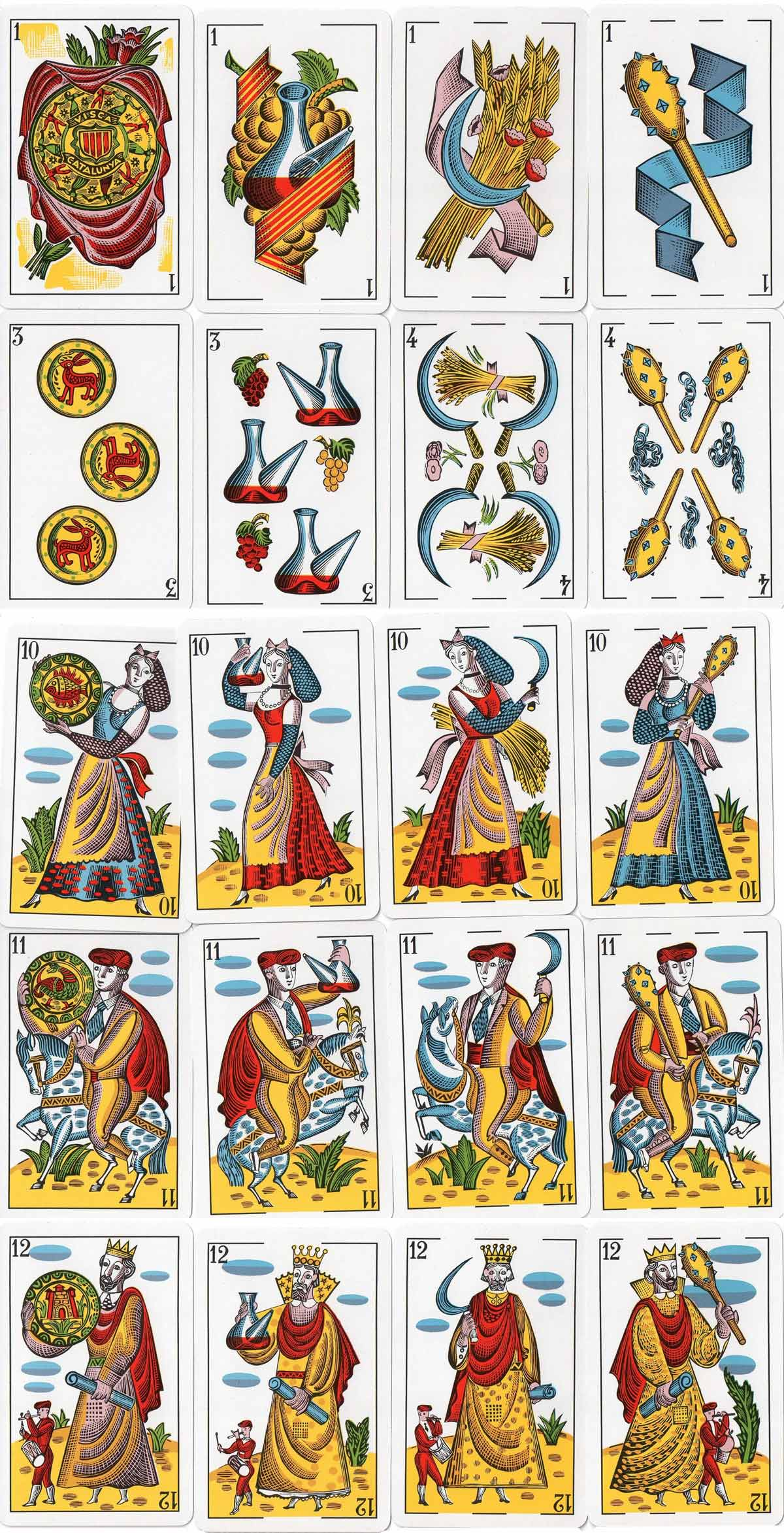 'Visca Catalunya' playing cards designed by Molné in 1935