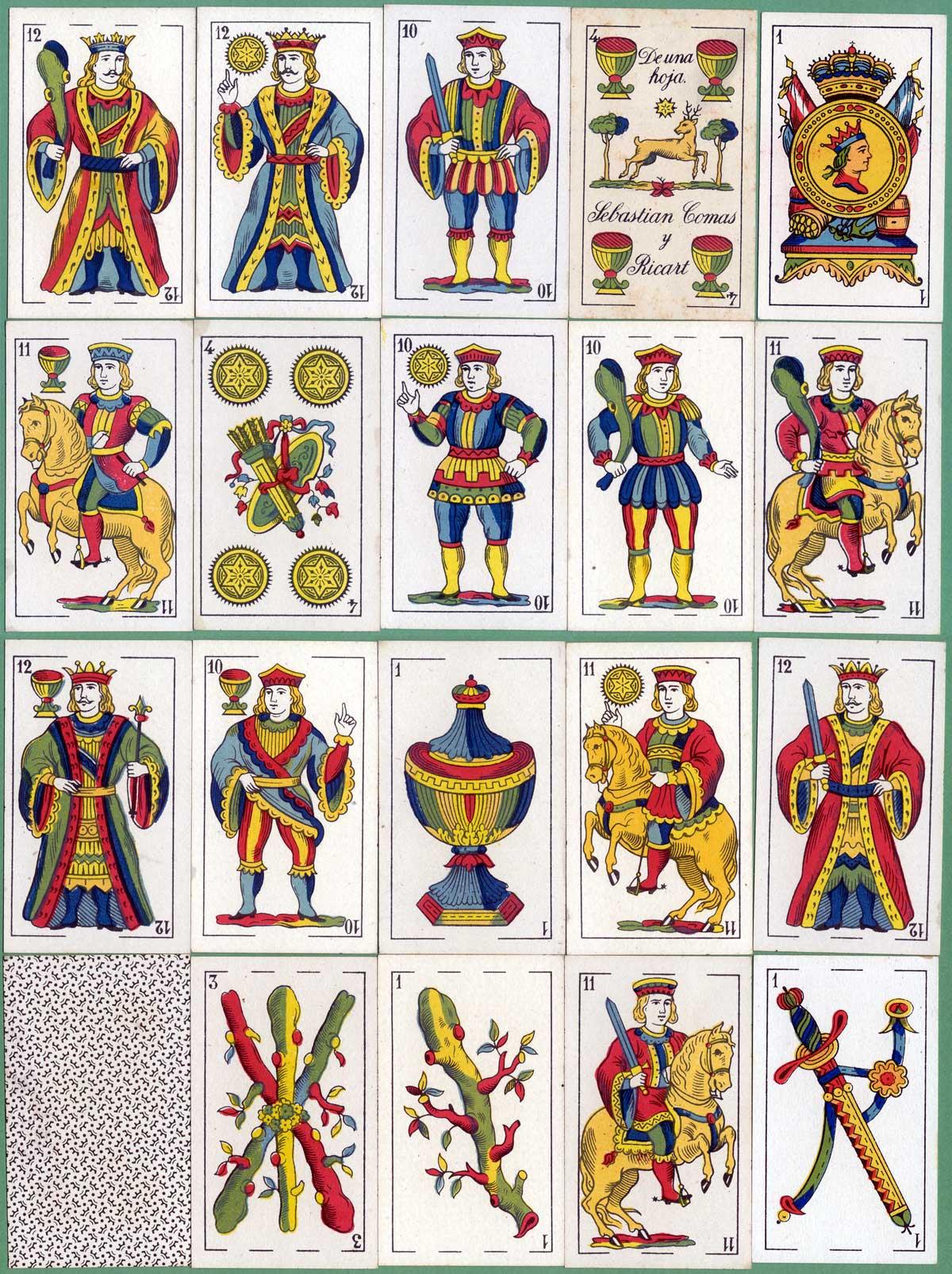 """Sebastian Comas y Ricart - Hija de A. Comas """"El Ciervo"""" Spanish Catalan pattern, c.1930"""